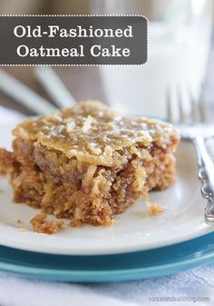 This Old-Fashioned Oatmeal Cake might not win any beauty awards, but one bite and it will instantly become a family favorite!