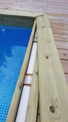 Rectangle Above Ground Pool, Rectangle Pool, Above Ground Pool Decks, Above Ground Swimming Pools, Homemade Swimming Pools, Swimming Pool Decks, Pool Deck Plans, Patio Plans, Gardens