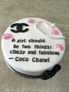 Birthday Cakes Browns Plains Chanel Cake Chanel Cake A Girl Should Be Two Things Classy Edfeffbfeb - Pappot Chanel Birthday Cake, 19th Birthday Cakes, 21st Birthday Cake For Girls, Birthday Cake Girls, Brithday Cake, Paris Birthday, Golden Birthday, 30th Birthday, Fancy Cakes