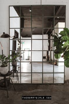 Industrial Mirrors, Industrial Interior Design, Industrial House, Industrial Style, Ikea Industrial, Ikea Mirror Hack, Ikea Mirror Ideas, Arquitetura, Interior Design