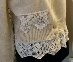 Victorian Antique Lace Wool Sweater,    42.00  http://www.victoriantailor.com/victorian-antique-lace-sweater/#sweater,