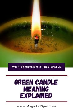 Here's everything you need to know about the Green Candle Meaning and Symbolism. I've also included my favorite spell with a green candle, and a few other fantastic spells and rituals. Candle Magic, Candle Spells, Wiccan Spells, Magic Spells, Magick, Witchcraft, Pink Candles, Black Candles, Magic Spell Book