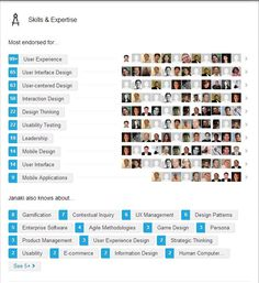 LinkedIn endorsement statistics