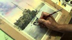 Joe Cartwright - Watercolour Painting shoal Bay Sunset- Part 6