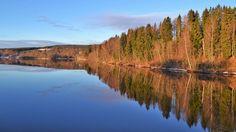 Vacker morgon vid Klarälven i Ransäter.
