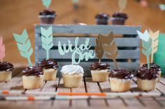 Project Nursery - Arrow Cupcake Toppers for this Wild One 1st Birthday Party