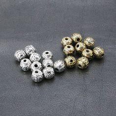 Cheap Charms, Buy Directly from China Suppliers:20Pcs/Lot Three Holes Ancient Silver Gold Beads Charms for Jewelry Making DIY Handmade Charm Accessories for Jewelry 0.9*0.9cm Enjoy ✓Free Shipping Worldwide! ✓Limited Time Sale✓Easy Return. Gold Beads, Types Of Metal, Diamond Earrings, Jewelry Accessories, Charms, Jewelry Making, Pendants, China, Free Shipping