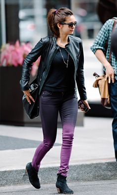 Nina Dobrev Outside Her Hotel in NYC on May 7, 2013. Ankle boot