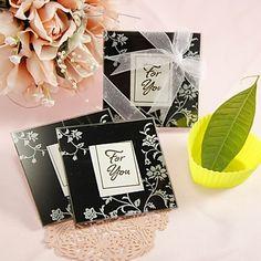 """Timeless Traditions"" Elegant Black & White Glass Photo Coasters (2 Pieces Set) – USD $ 1.49"