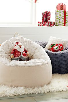 A Pier 1 bean bag is like a good friend. It goes just about anywhere you want, it makes you feel comfortable and you love it no matter how puffy it gets. Give one as a cozy Christmas gift, and pick up an extra for unwrapping gifts Christmas morning.
