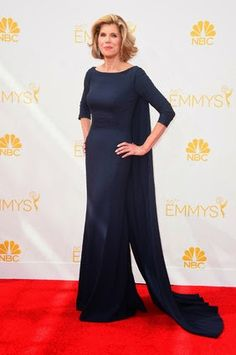 Christine Baranski Emmy award 2014: best dressed
