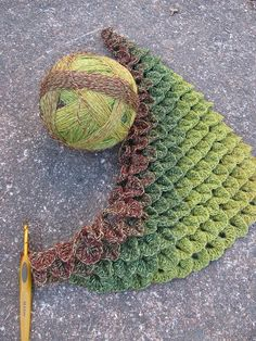 Not knitting, but this is called the crocodile stitch in crochet. I want to make something involving dragons using this.
