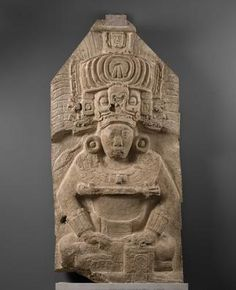 Maya Guatemala Seated Ruler from Stela 11 731 AD Limestone with traces of paint  53 3/16 x 26 3/4 x 9 5/16 inches   The Museum of Fine Arts, Houston