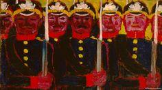"""Der Erste Weltkrieg und die Kunst - Die Bundeskunsthalle in Bonn zeigt mit ihrer Ausstellung """"Avantgarden im Kampf"""", wie der Erste Weltkrieg die Kunst der klassischen Moderne geprägt hat. Die Veränderungen reichen weit über die Zeit nach Kriegsende hinaus.(DW)."""