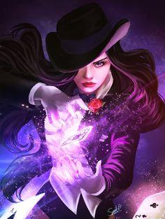 [Fan Art] Zatanna by Forty-Fathoms Arte Dc Comics, Zatanna Dc Comics, Comic Books Art, Comic Art, Math Comics, Harley Queen, Dc Comics Girls, Dc Comics Women, Univers Dc