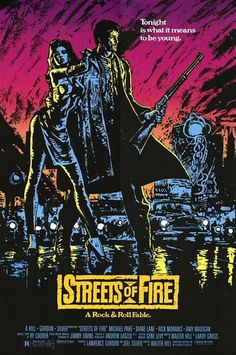 Streets Of Fire.  Very underrated movie and an awesome soundtrack.  Whatever happened to Michael Pare?