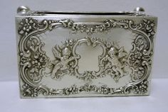 Victorian Silver Large  Matchbox Cover  by WallflowerAntiques