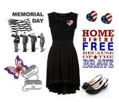 """""""Memorial Day"""" by joy2thahworld ❤ liked on Polyvore featuring Mela Loves London, Susan Caplan Vintage and Moonbasa"""