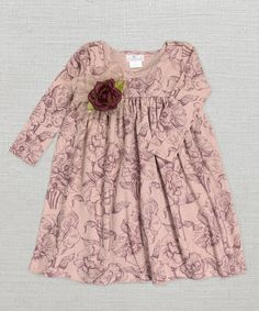 Another great find on #zulily! Blush Toile Babydoll Dress - Infant by Truffles Ruffles #zulilyfinds