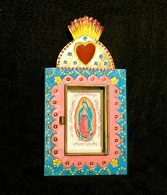 Guadalupe OOAK Nicho Sacred Heart Stars Rising by FreehandStudios