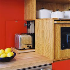 Microwave Storage Design, Pictures, Remodel, Decor and Ideas - page 4
