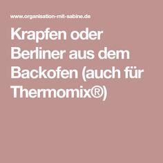 Krapfen oder Berliner aus dem Backofen (auch für Thermomix®)