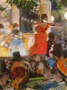 Café Concert - At Les Ambassadeurs  By: Edgar Degas