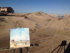 the accidental artist: Rough Seas, Nag's Head - My painting in the landscape