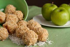 No sugar added coconut apple macaroons.