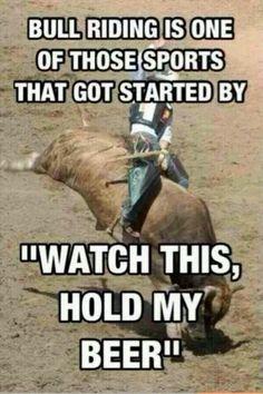Haha bull riding