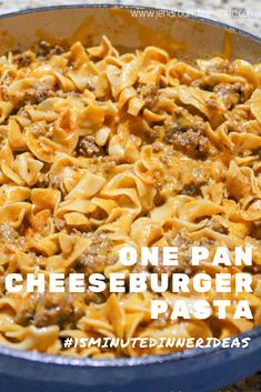 This delicious pasta dish is one of a kind and only takes 15 minutes to make! If you love Hamburger Helper, you will love this pasta dish! Everything can be made in one pan and takes about 20 minutes to prepare. Ground Beef Recipes Easy, Beef Recipes For Dinner, Meat Recipes, Cooking Recipes, Venison Recipes, Hamburger Recipes, Sausage Recipes, Easy Casserole Recipes, Recipes