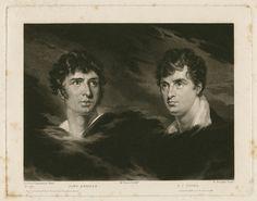 The actors John Kemble and François Joseph Talma, as depicted by Henry Edward Dawe, 1832