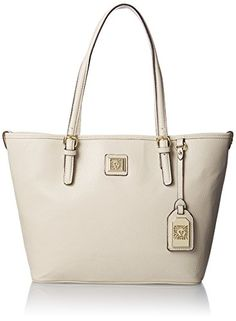 Anne Klein Perfect Medium Tote  Handbag, Vanilla Bean, One Size. Shopswell | Shopping smarter together.™