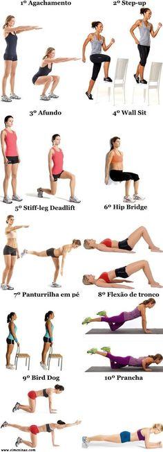 Treino para mulheres sem equipamento  #saúde #boa+forma #treino #treinamento #exercicios #mulher #menina #ei #dicas #equipamentos #treinar #fazer #boa #forma