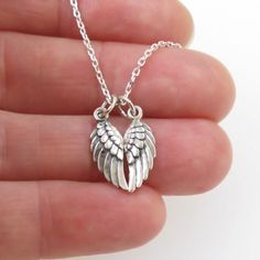 Angel Wing Necklace Sterling Silver | Sterling silver angel wings | Angel'sEnvy PROJECT