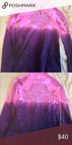 Athleta ombré running jacket Ombré quarter zip running jacket with gorgeous detailing. Athleta Jackets & Coats