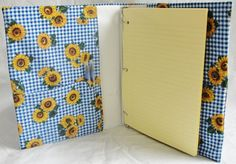 Notebook Cover for 3-ring Binder Yellow Daisies by belairevillage