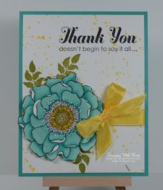 Stampin Up Blended Bloom card by Kristi@www.stampingwithkristi.com