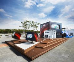 Tissot Asian Games 2014 pavilion by Lacellula labs, Incheon   South Korea trade fairs