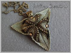 Beaded pendant Twisted Triangle tutorial by InMemoryOfEridhan