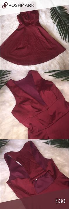 Nasty Gal dress Beautiful, fun, and flirty Nasty Gal dress. Zip down side for easy on/off. Low cut to front and open design back. Size XXS. Nasty Gal Dresses