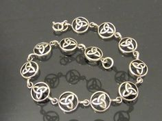 Vintage Sterling Silver Celtic Link Chain by wandajewelry2013