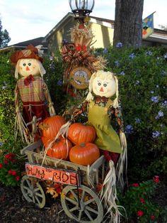 fall yard decor autumn yard scape - Fall Yard Decorating Ideas