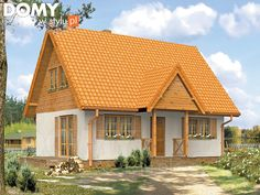 Motylek Dom letniskowy z użytkowym poddaszem. - Jesteśmy AUTOREM - DOMY w Stylu Small House Design, Home Fashion, Bed Spreads, Interior And Exterior, San Antonio, Pergola, Cabin, House Styles, Building