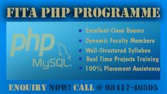 PHP is the best programming language to develop the dynamic website and web application. FITA offers the high quality PHP program with practical session. Our course content is designed by the people who have decade years of experience in PHP. Our PHP Training in Chennai syllabus will help you to complete the advanced and innovative project in PHP programming. Once you trained from our PHP Course in Chennai, you can apply the knowledge you gained during PHP certification at FITA in a straight…