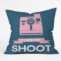 Naxart I Like To Shoot 6 Throw Pillow | DENY Designs Home Accessories