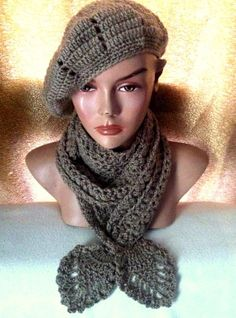 7268fa71d1c Crochet Hat and Scarf Set Women Fashion Accessories Gift Ideas