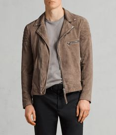 Best Sellers for Men Suede Jacket, Leather Jacket, Mens Traditional Wear, Biker Jacket Outfit, Le Closet, Best Mens Fashion, Men's Fashion, Leather Men, Grey Leather
