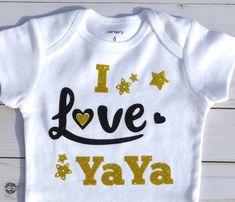 e984918c8b3d5 Yaya Bodysuit/ Yaya baby Clothes/ Yaya/ Gift For Yaya/GiGi/MiMi/NaNa/Baby  Shower Gift/Baby Girl Gift/Baby Shower Gift