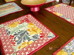 Ladies Who Lunch Placemat Pattern - Making placemats out of quilting scraps is a fabulous way to add some gorgeous accents to your dining room or kitchen table. With the right prints, the Ladies Who Lunch Placemat Pattern will transform your favorite eating spot into a fancy bistro. You do not have to eat out at an expensive eatery when you know how to add quilting projects to your dining experience.